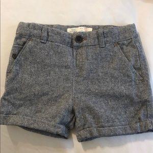 Tweed shorts grey blue